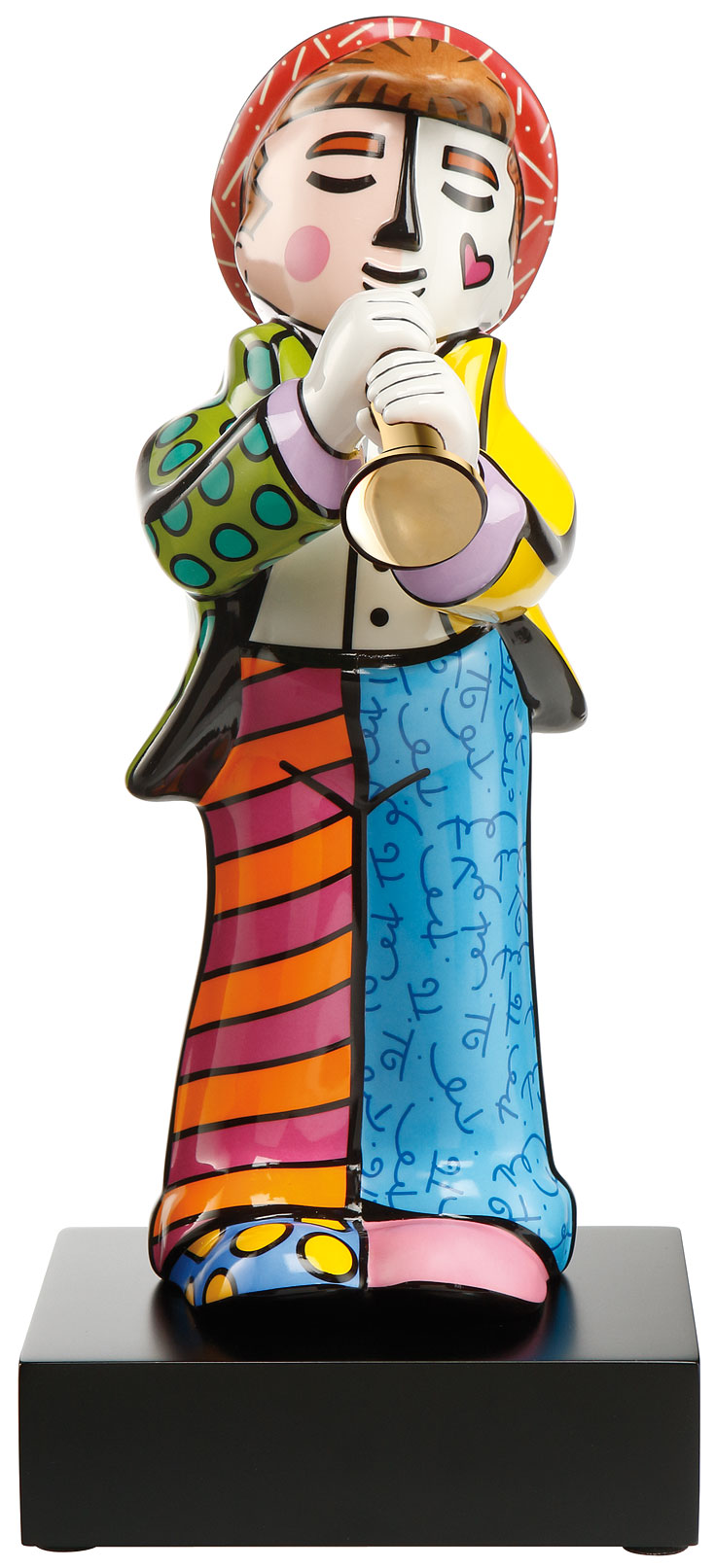 "Porzellanskulptur ""Trompeter"", große Version"