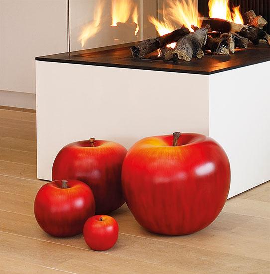 """Keramikobjekt """"Apfel rot"""" (Version Höhe 18 cm)"""