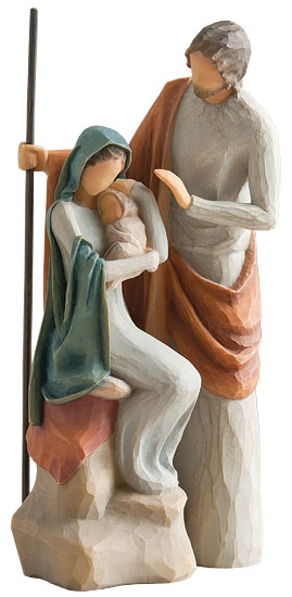"Skulptur ""Heilige Familie"", Kunstguss handbemalt"