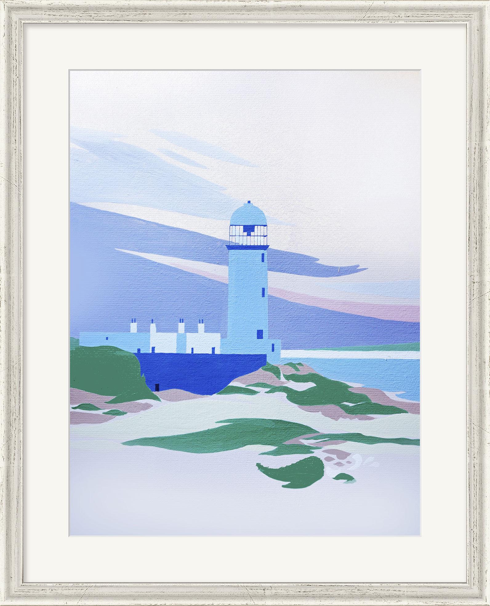 """Bild """"Danish Lighthouse"""", gerahmt"""