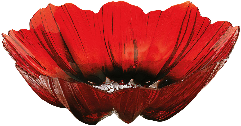 "Glasschale ""Mohnblüte"" (groß, Ø 26 cm)"