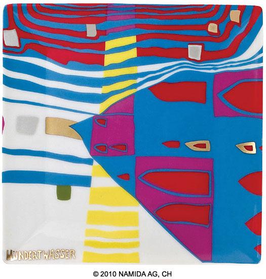 """Gabenschale """"Detail of Infinity"""" (15 x 15 cm, weiß)"""