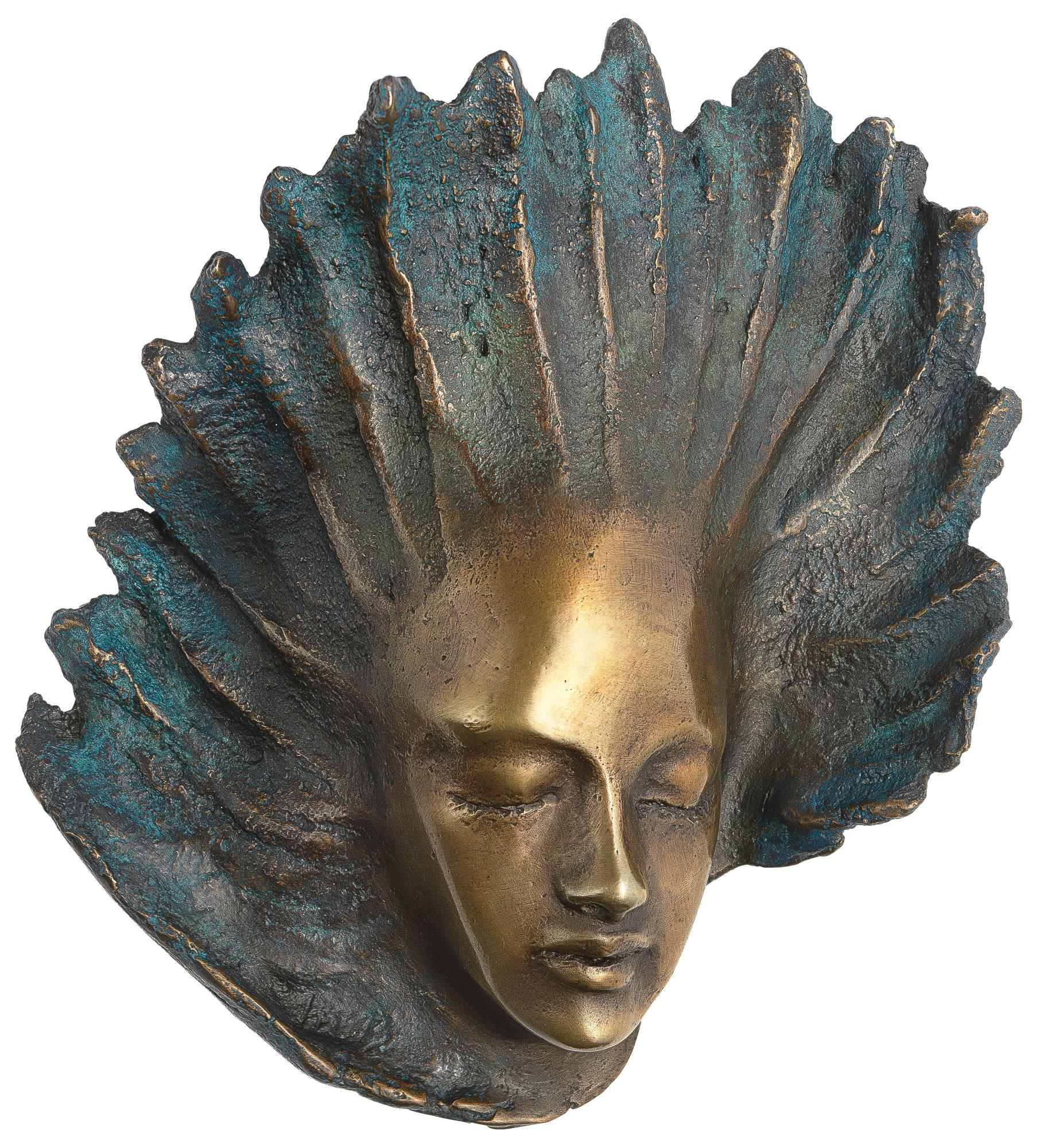 """Wandskulptur """"Engel"""", Version in Bronze"""