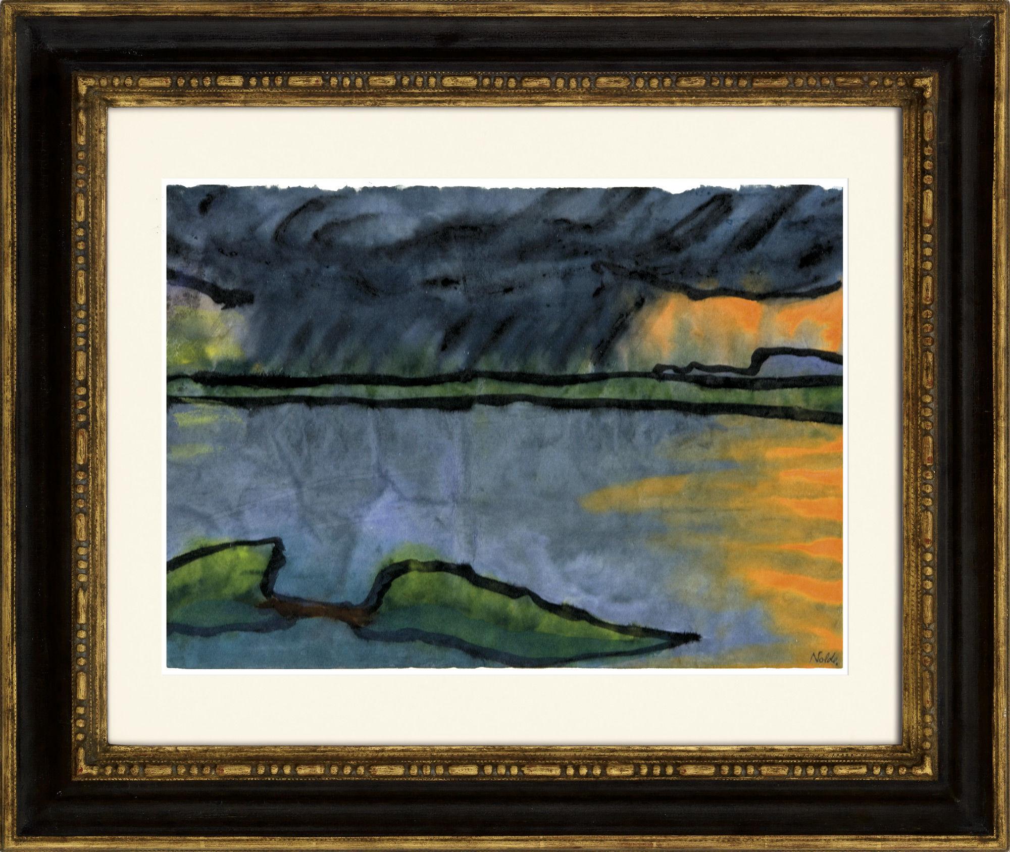 """Bild """"Letztes Abendlicht am Meer"""" (1920) (Unikat)"""
