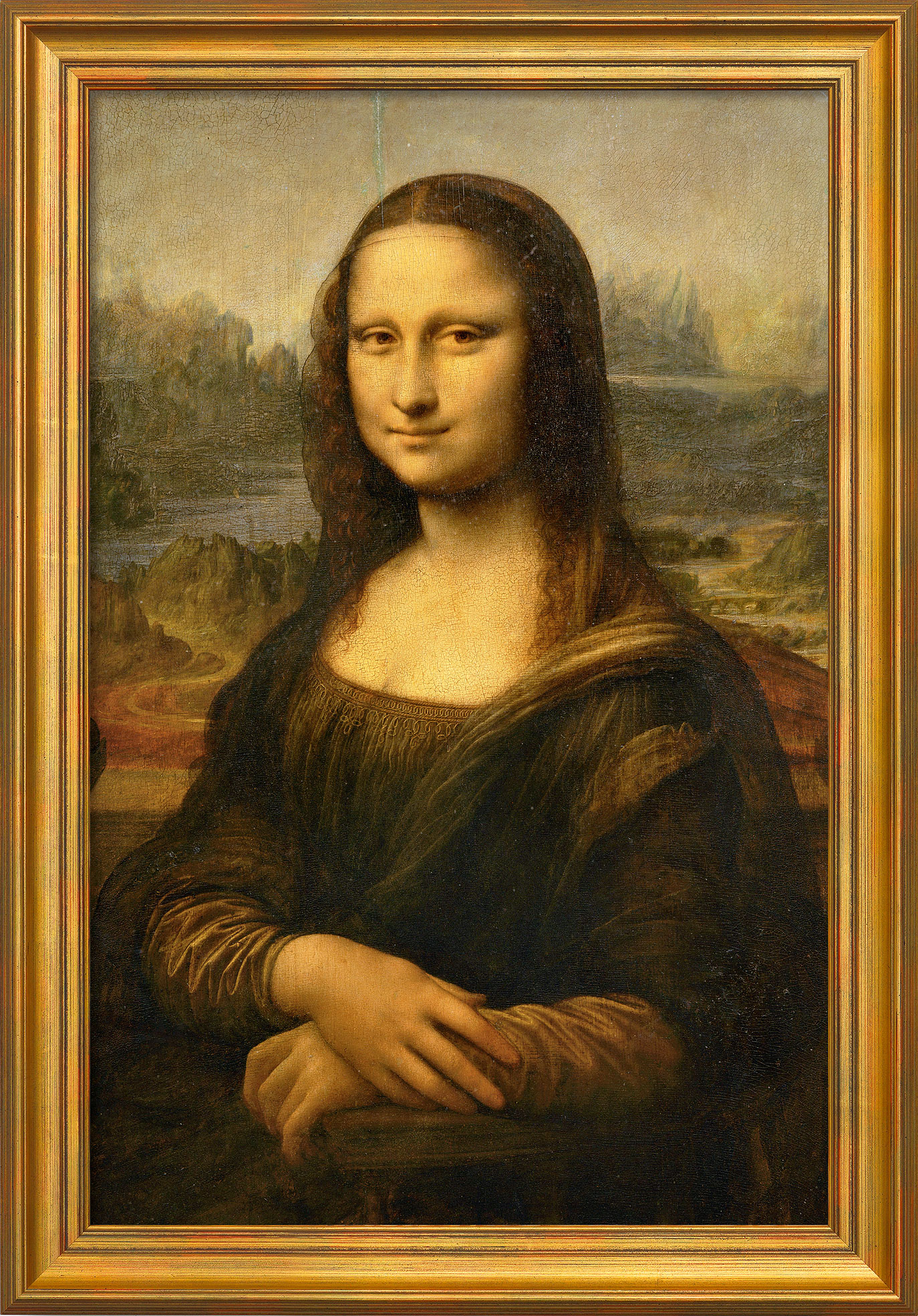 """Bild """"Mona Lisa (La Gioconda)"""" (um 1503/05), gerahmt"""