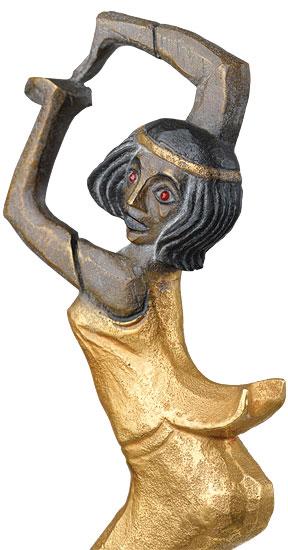 "Skulptur ""Birma-Tänzerin"" (1914), Bronze teilvergoldet"