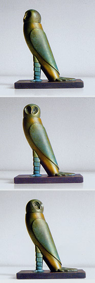 "Skulptur ""Kleine Eule"", Bronze"