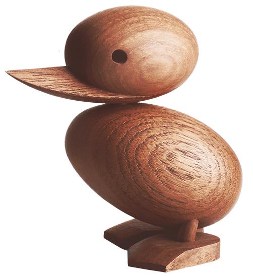 """Holzfigur """"Entenküken"""" - Design Hans Bolling"""