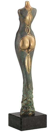 """Skulptur """"Das Model"""", Bronze"""