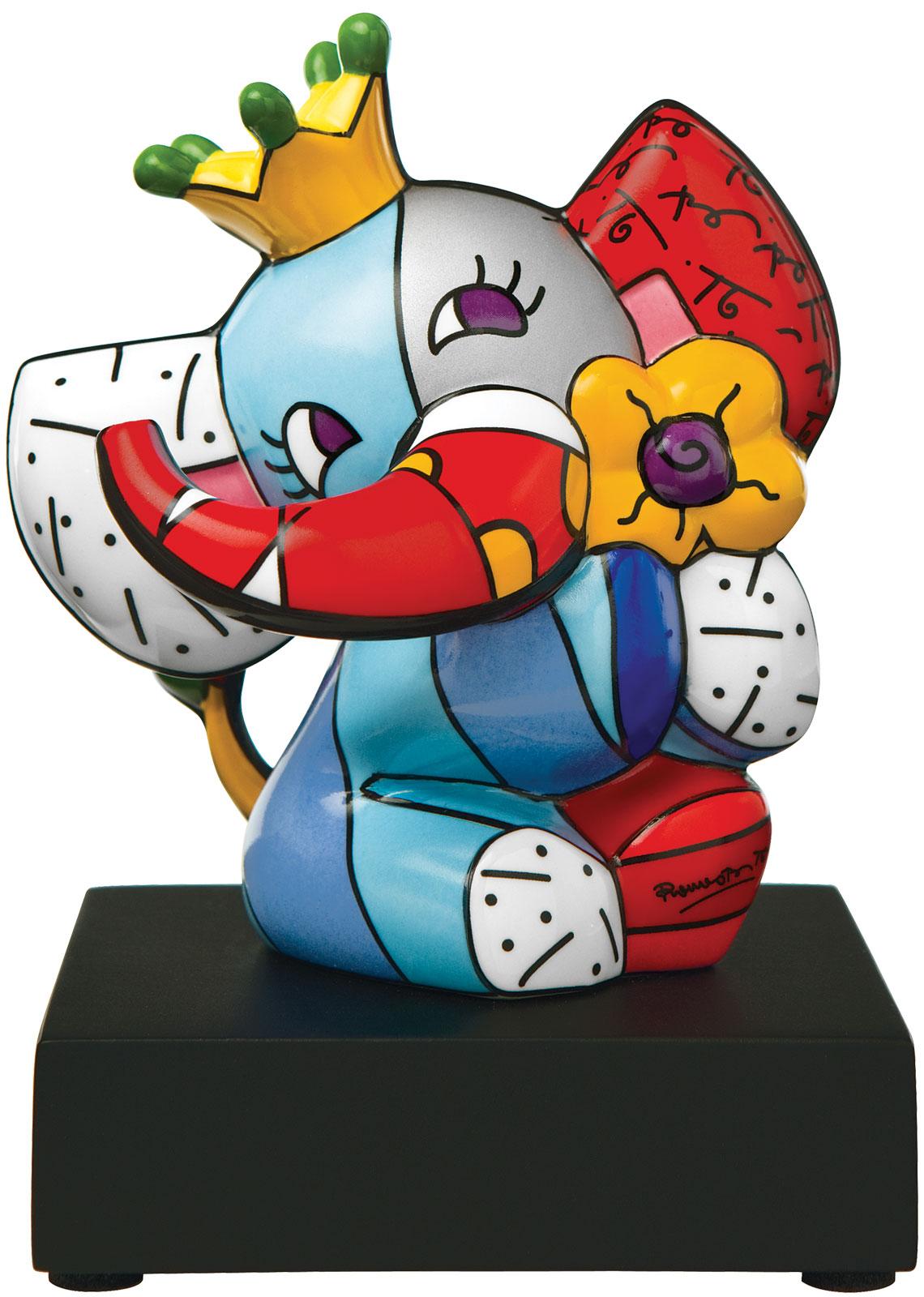 "Porzellanskulptur ""Spring Elephant"", kleine Version"