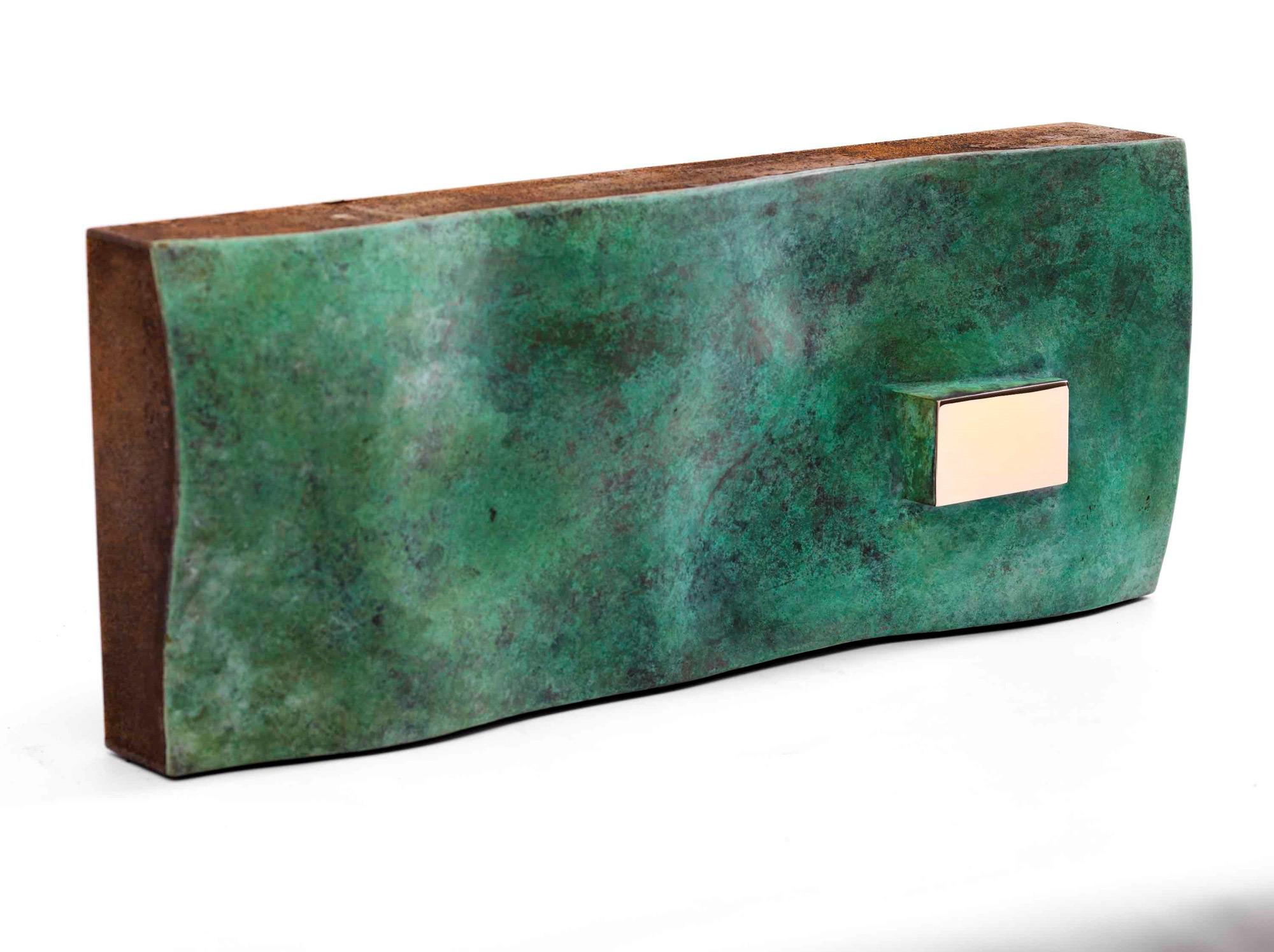 """Skulptur """"habitat montagne 2"""" (2019) (Unikat), Stahl und Bronze"""