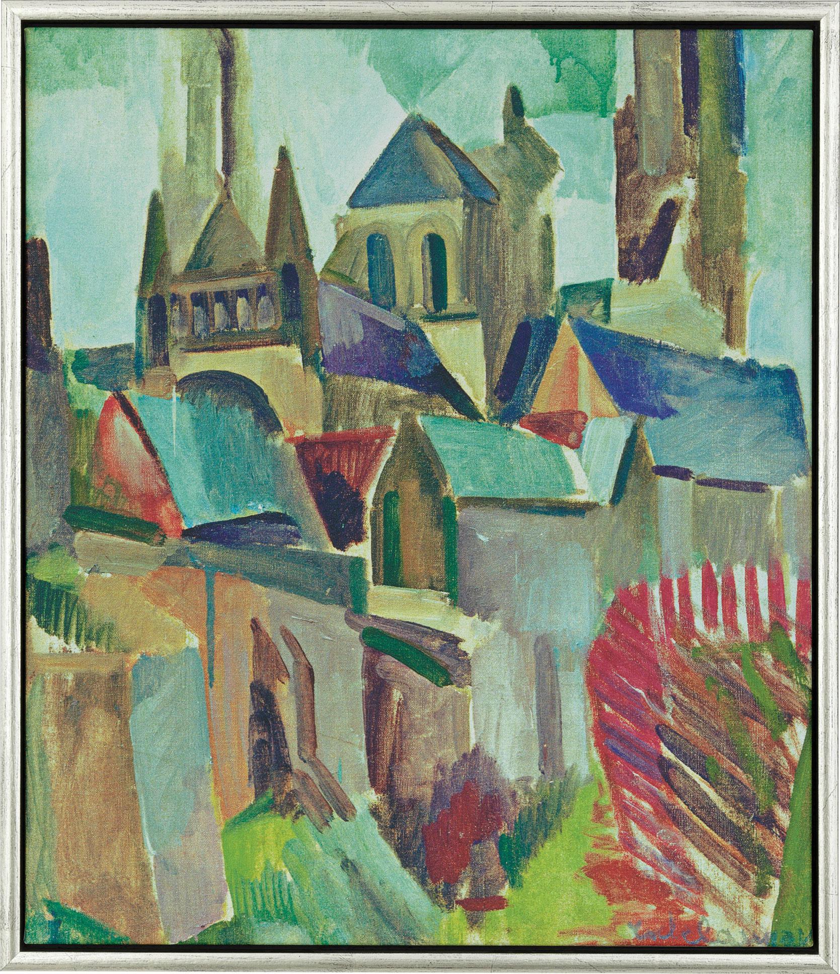 """Bild """"Die Türme von Laon"""" (1912), gerahmt"""