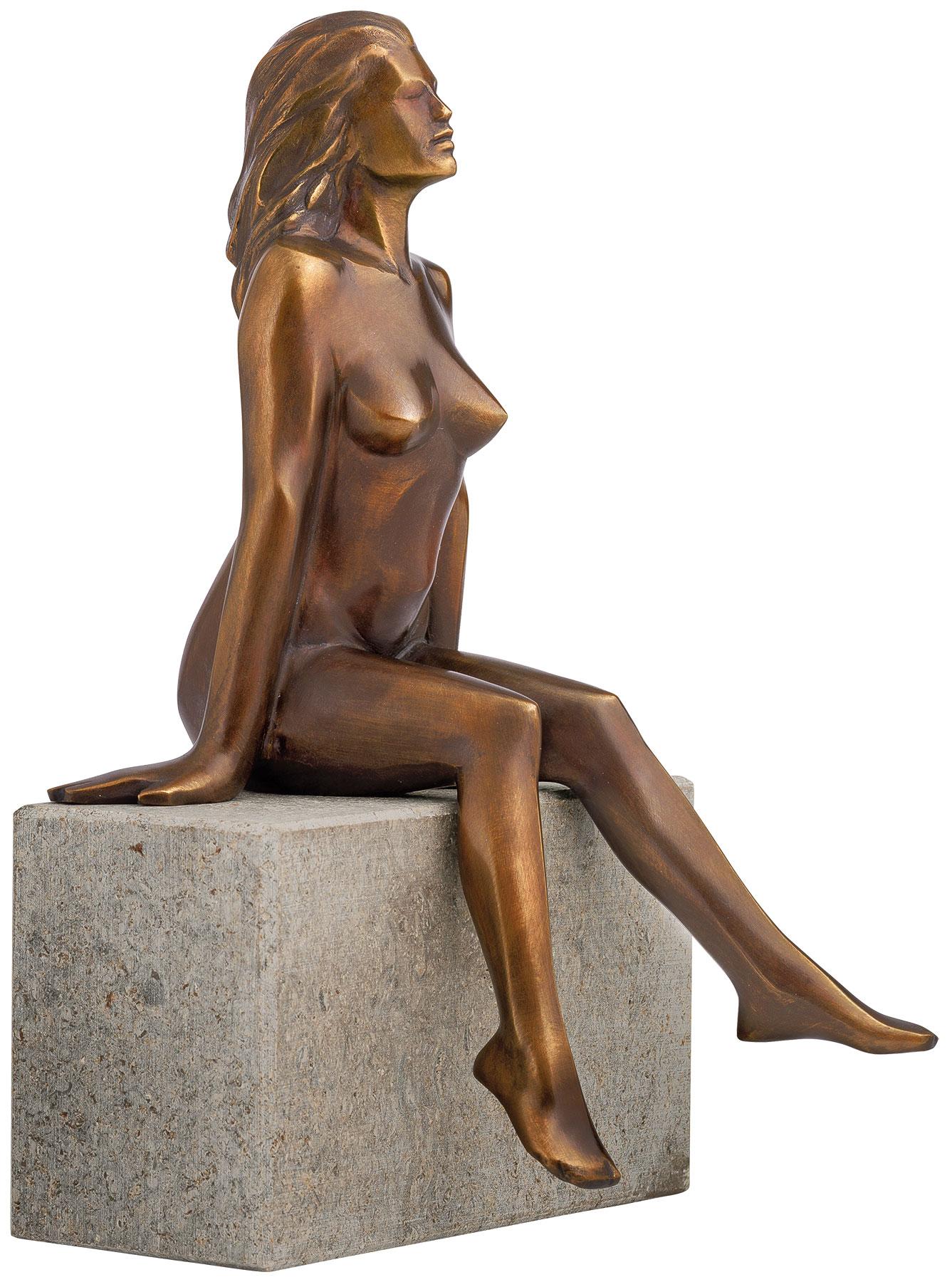"""Skulptur """"Innehalten"""", Version in Bronze"""