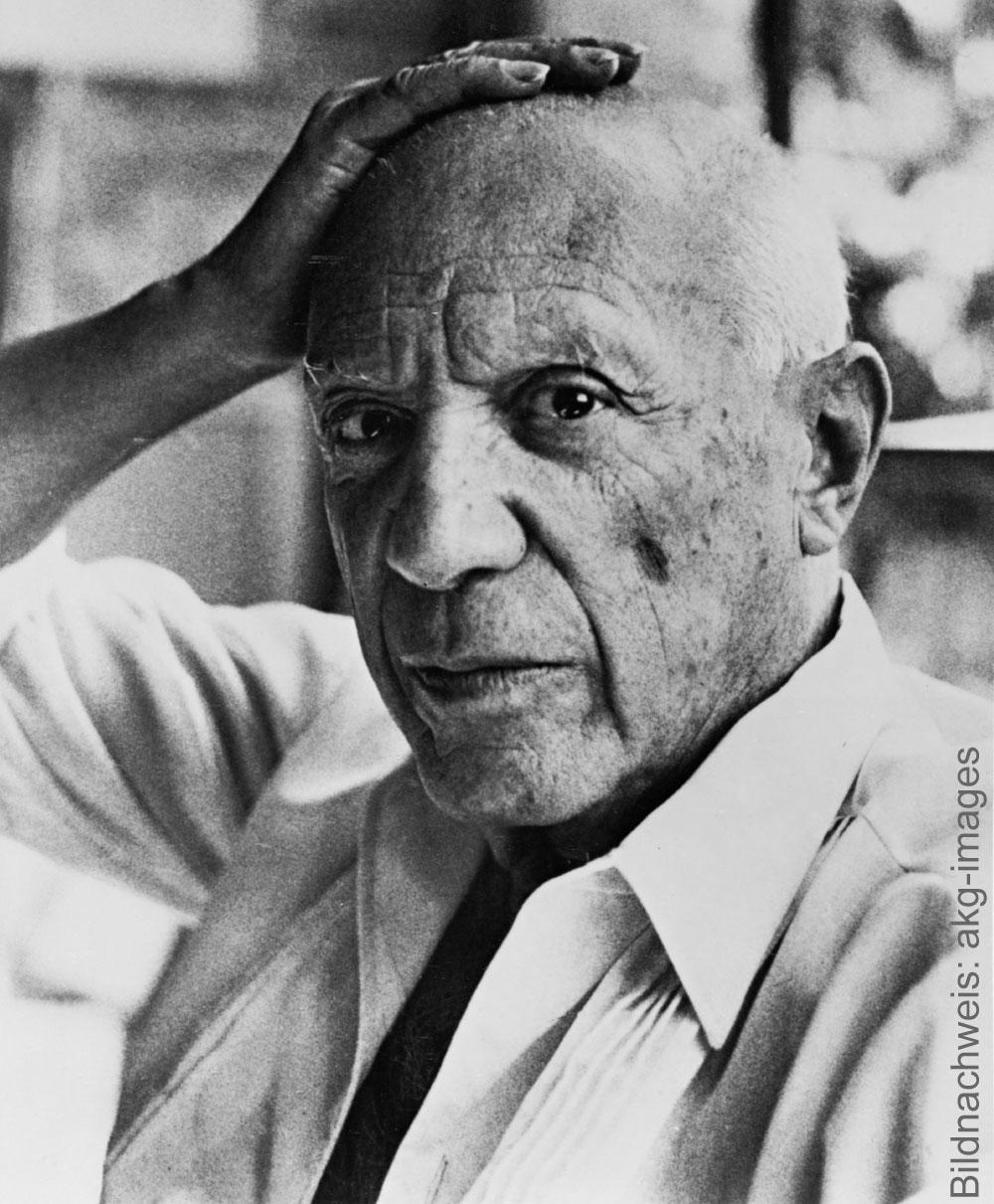 Porträt des Künstlers Pablo Picasso
