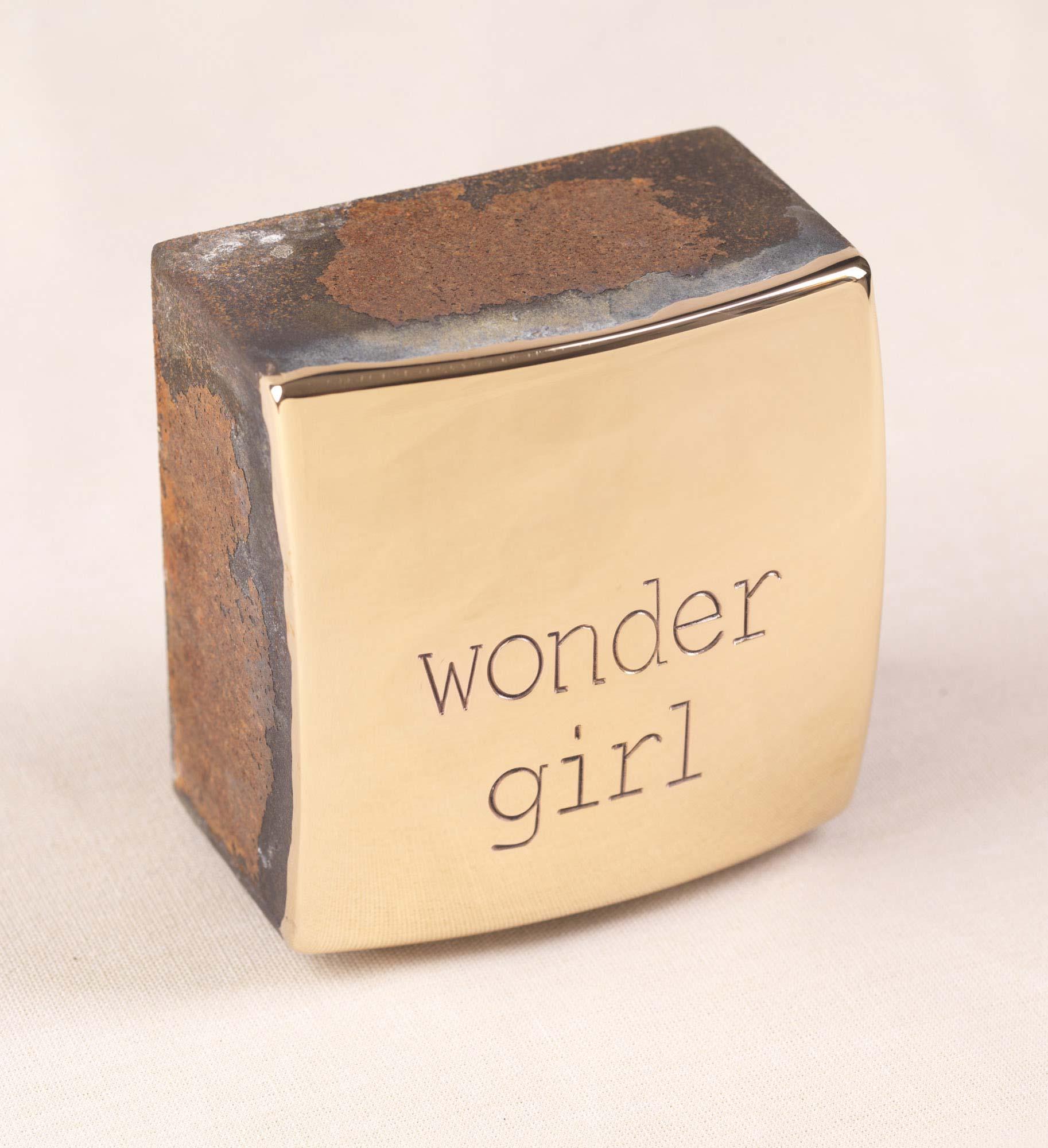 "Objekt ""wondergirl"" (2020) (Unikat), Bronze, Stahl"