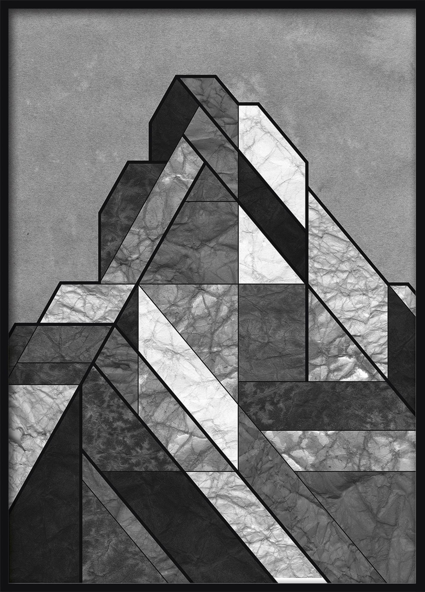 """Bild """"Matterhorn Knitterbild"""" (2018) (Unikat)"""