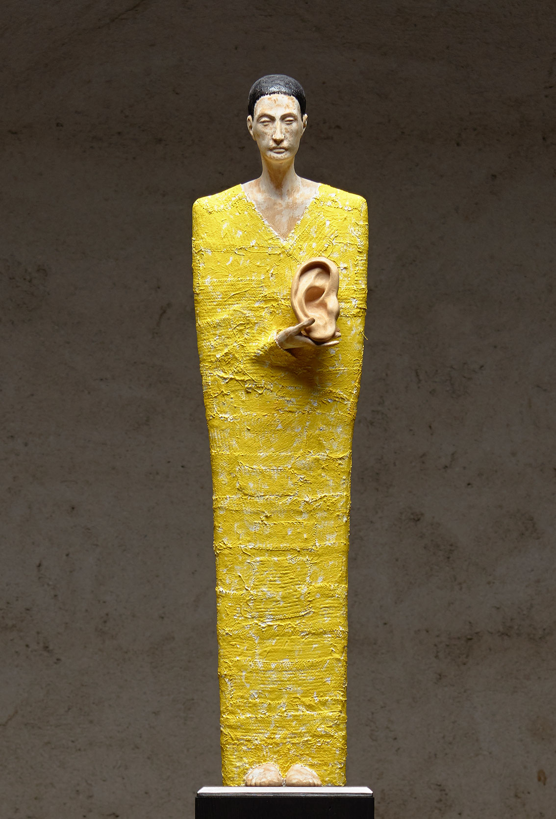 "Skulptur ""Die Stille hören"" (Original / Unikat), Holz"