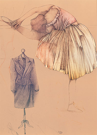 "Bild ""Ballerina e manichino"", ungerahmt"