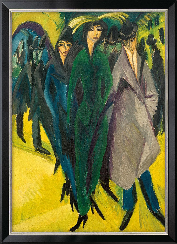 """Bild """"Frauen auf der Straße"""" (1915), gerahmt"""