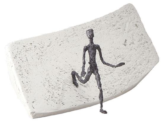 """Skulptur """"Neue Wege"""", Bronze und Steinguss"""