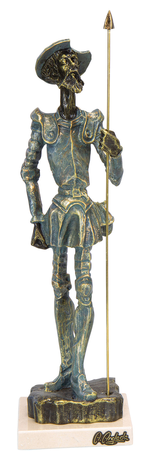 "Skulptur ""Don Quijote"", Kunstguss Steinoptik"