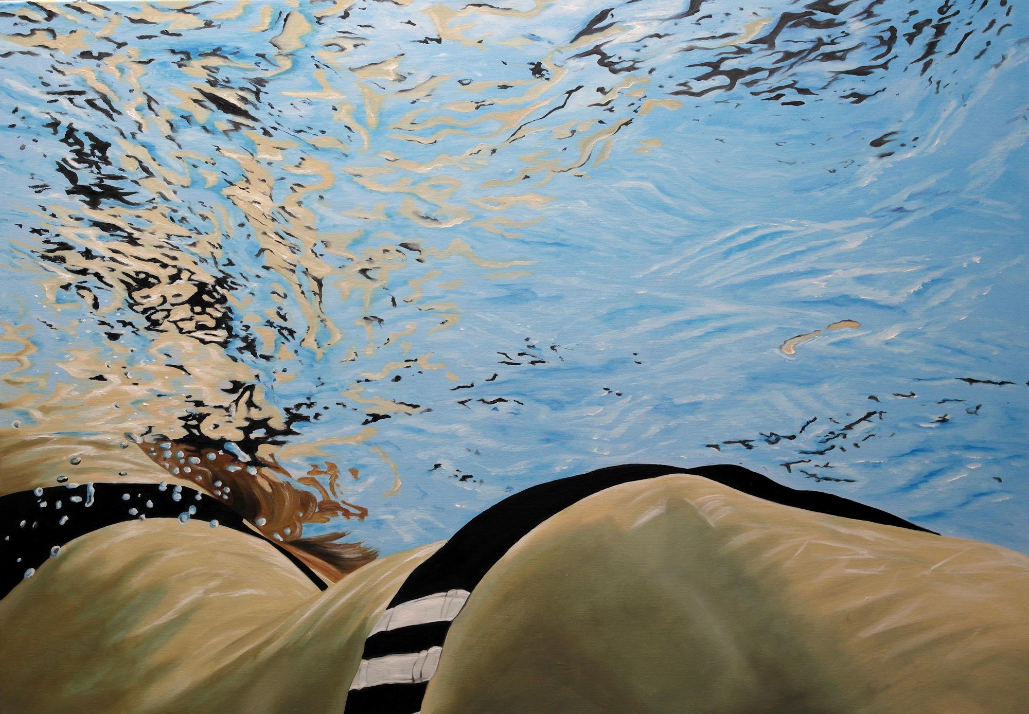 """Bild """"Schwimmerin"""" (2013) (Unikat)"""