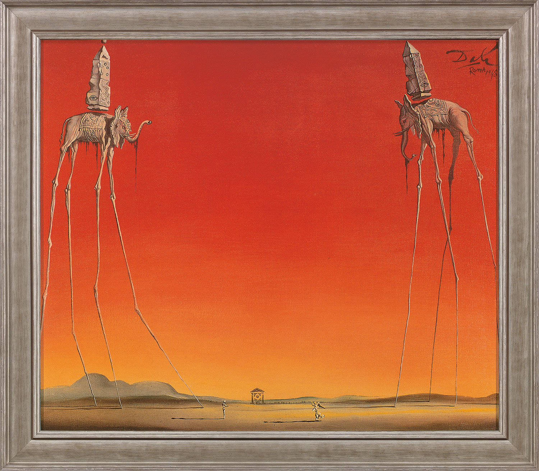 """Bild """"Les Éléphants"""" (1948), gerahmt"""