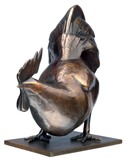 "Skulptur ""Urhahn"", Bronze"