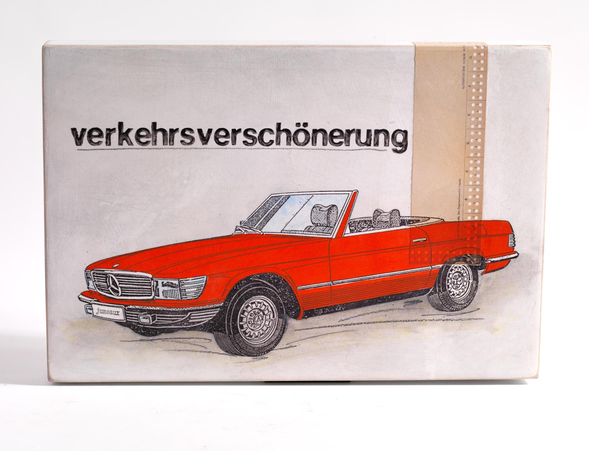 """Wandobjekt """"Verkehrsverschönerung"""" (2021) (Unikat)"""