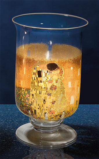 """Windlicht / Vase """"Der Kuss"""", Glas"""