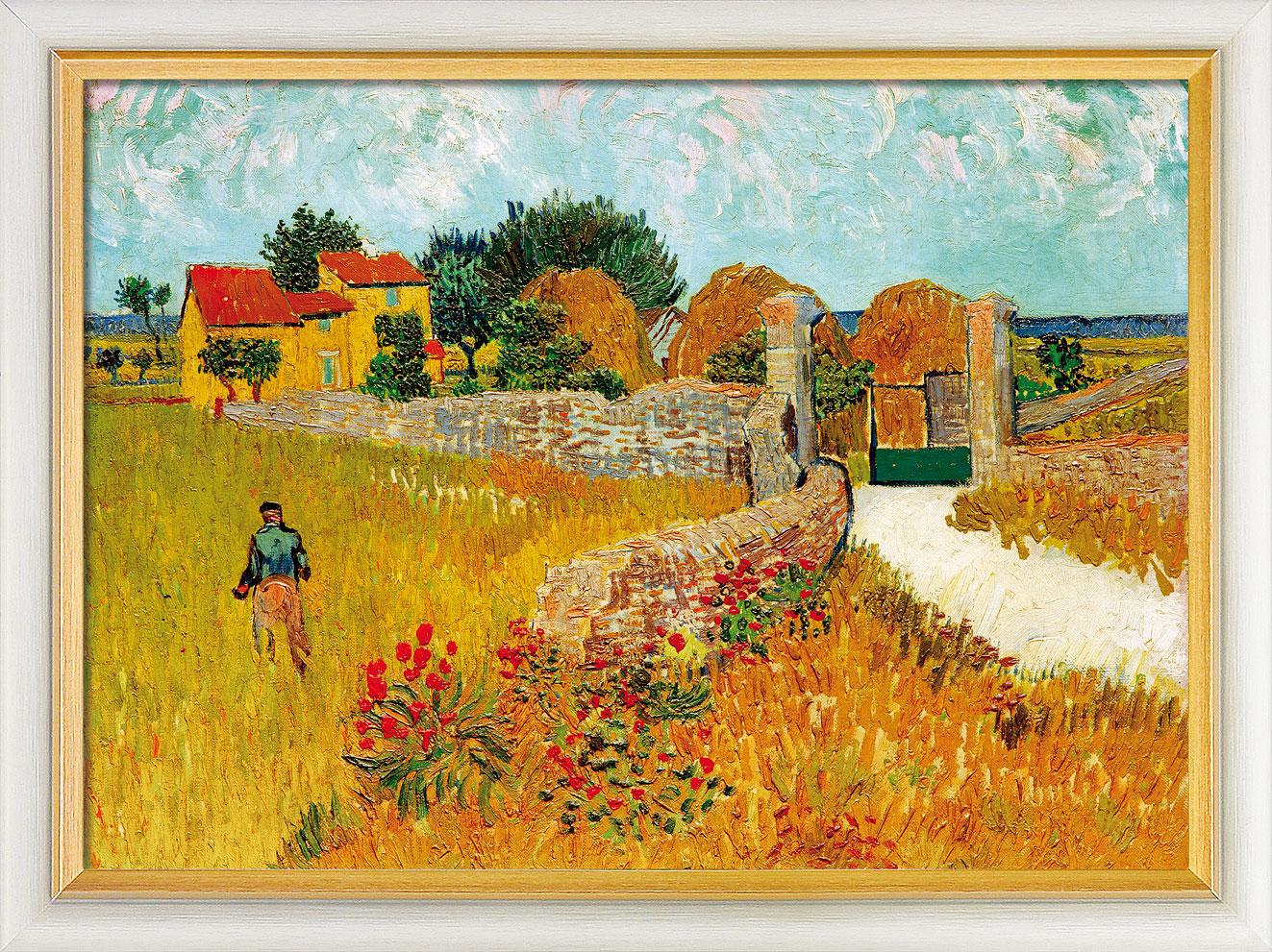 """Bild """"Un Mas de Provence (Ein Bauernhaus in der Provence)"""" (1888), gerahmt"""