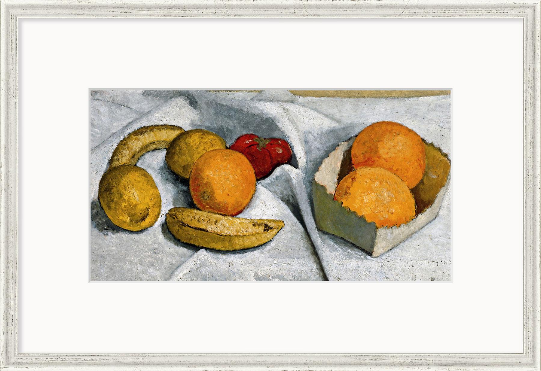 """Bild """"Stillleben mit Orangen, Bananen, Zitronen und Tomate"""" (1906), gerahmt"""