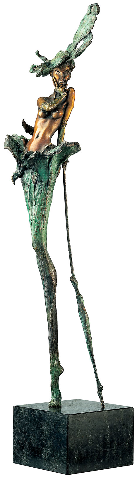 "Skulptur ""When the lady smiles"" (1995), Bronze"