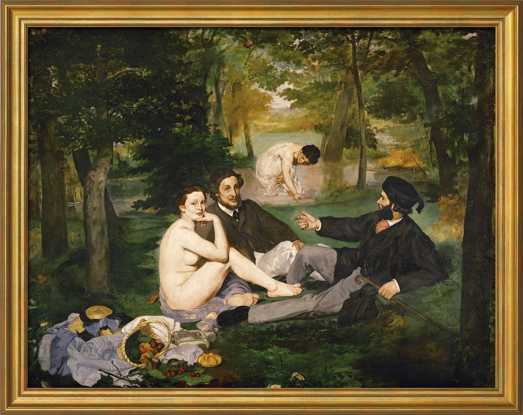 """Bild """"Le Déjeuner sur l'herbe (Frühstück im Grünen)"""" (1863), gerahmt"""