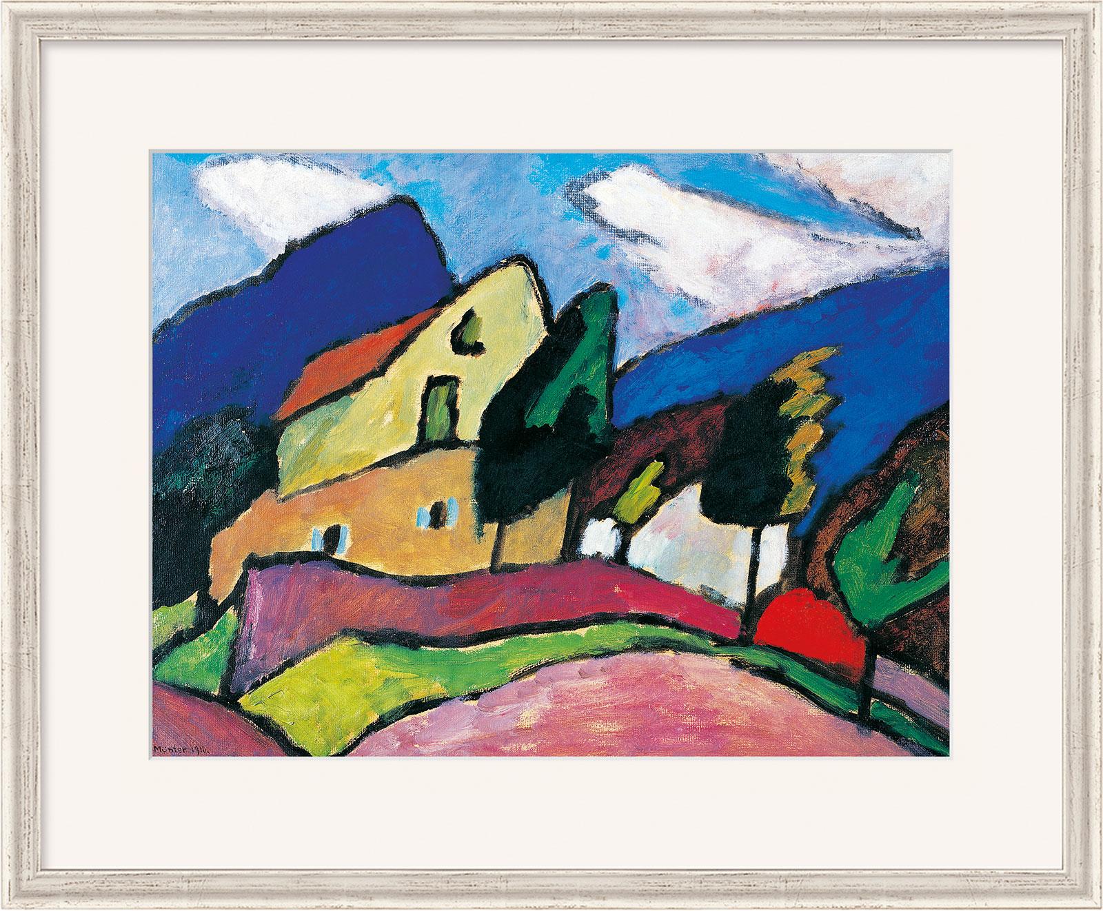 """Bild """"Wind und Wolken"""" (1910), gerahmt"""