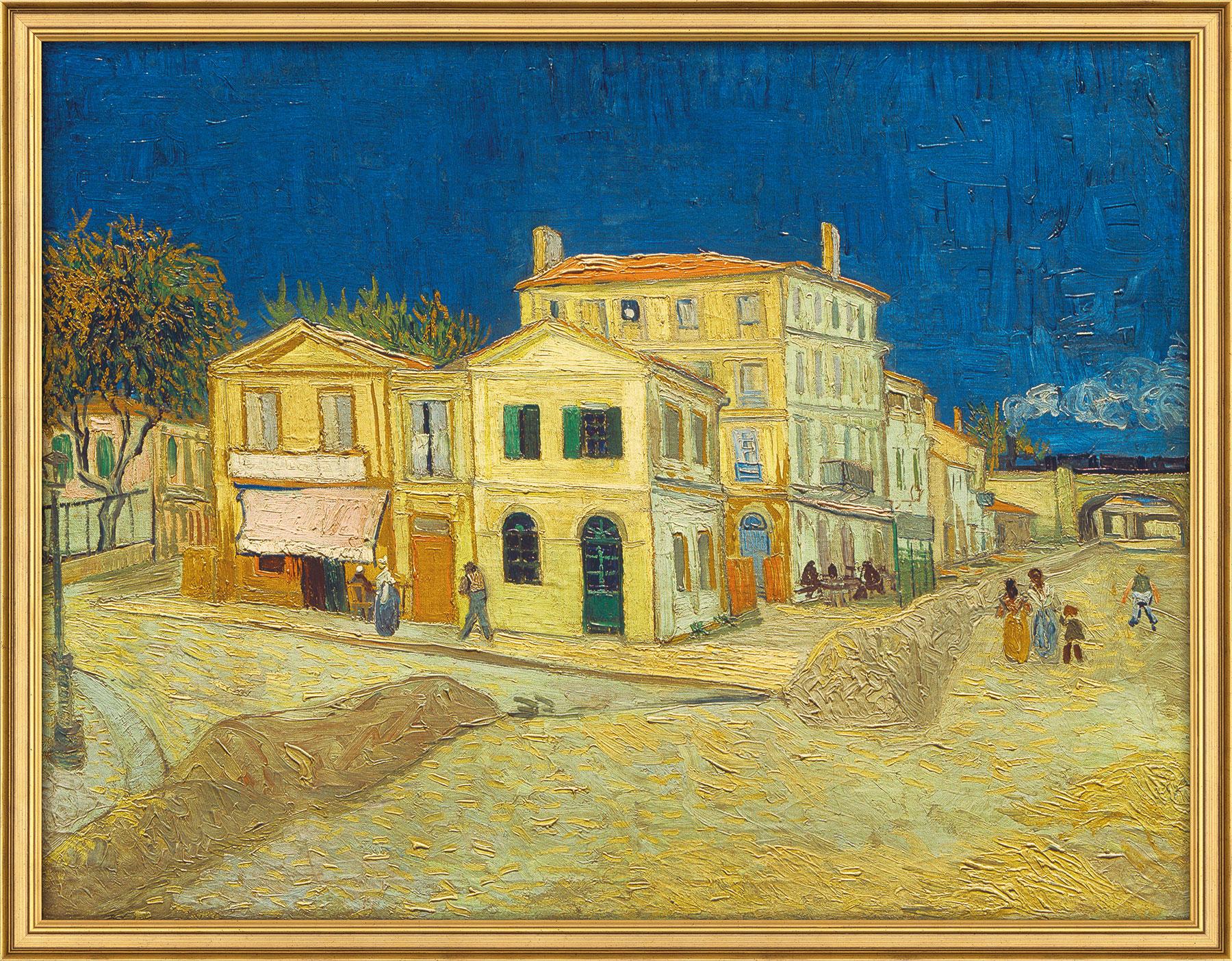 """Bild """"Das gelbe Haus"""" (1888), gerahmt"""