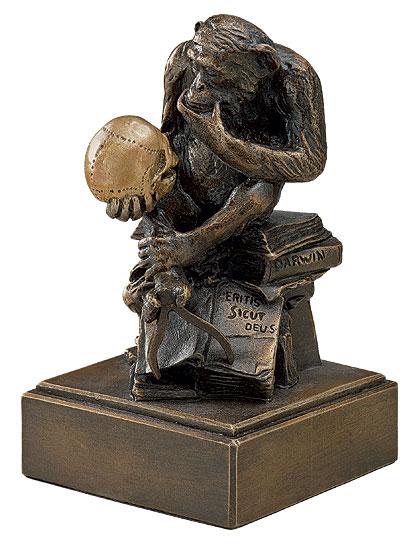 "Skulptur ""Affe mit Schädel"" (1892-93), Version in Kunstbronze"