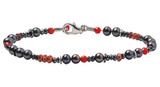 """Armband """"Red and Black"""""""