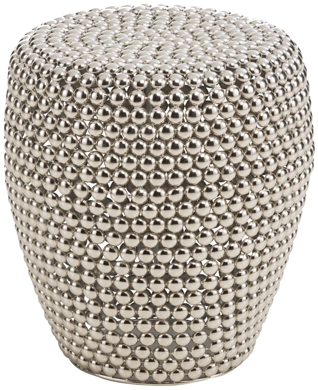 """Hocker / Beistelltisch """"Dot stool silver"""""""