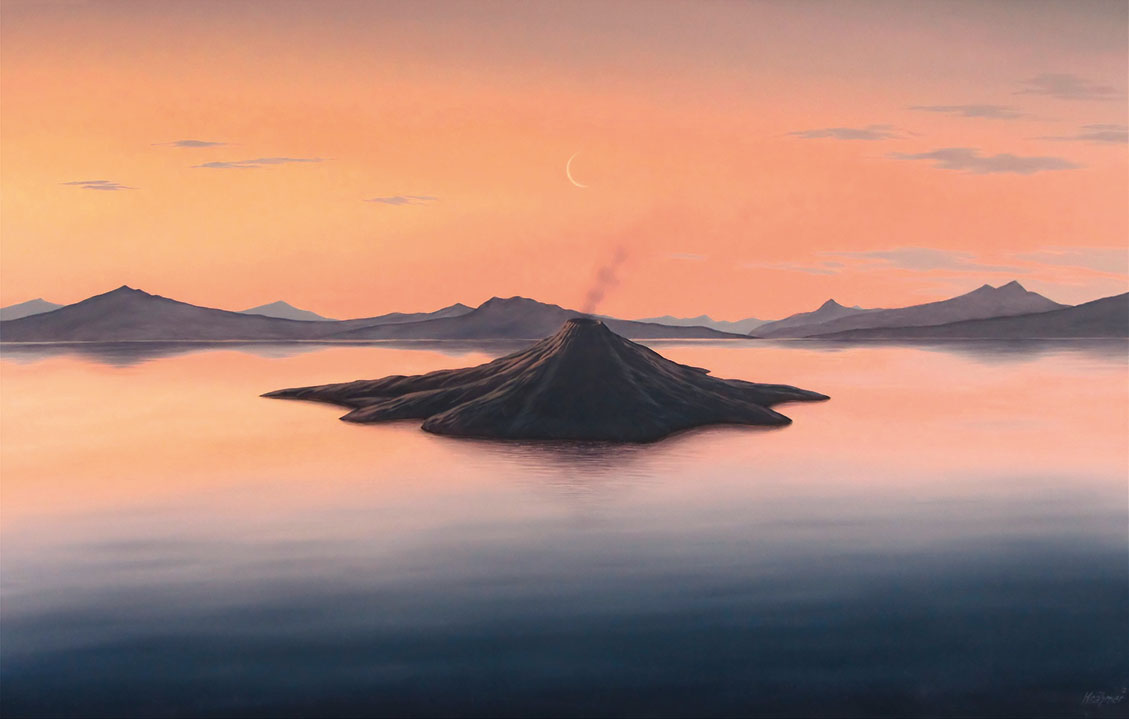 "Bild ""Vulkaninsel"" (2013), auf Keilrahmen"