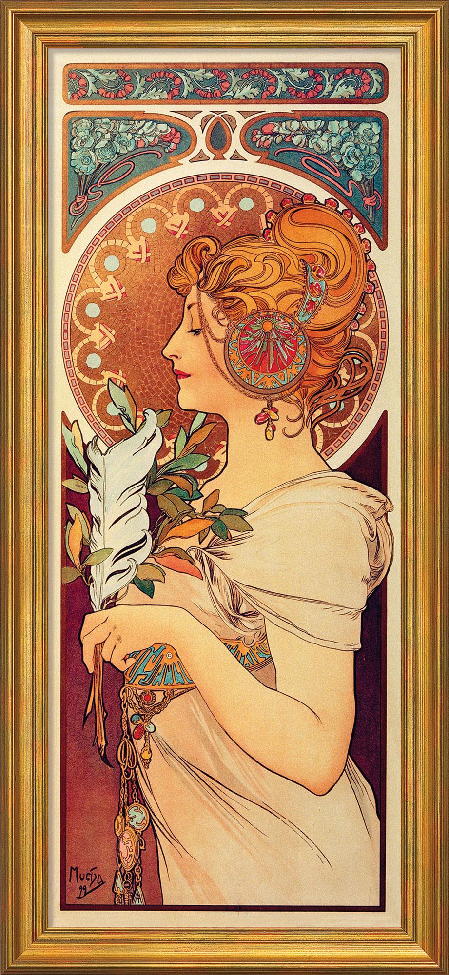 "Bild ""La Plume"" (1899), gerahmt"