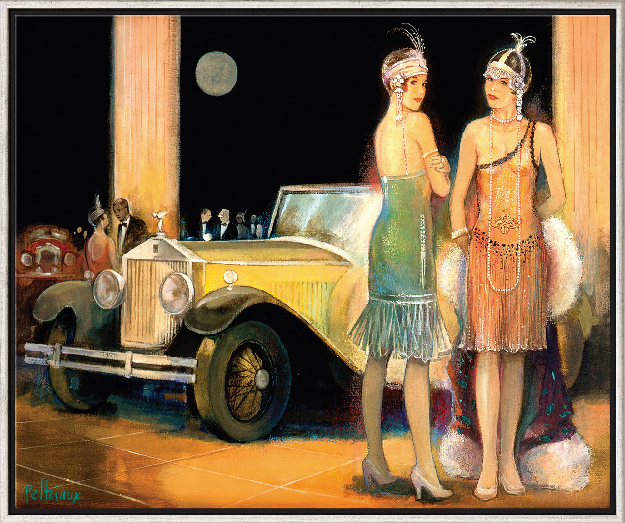 "Bild ""Cabriolet Jaune"", gerahmt"