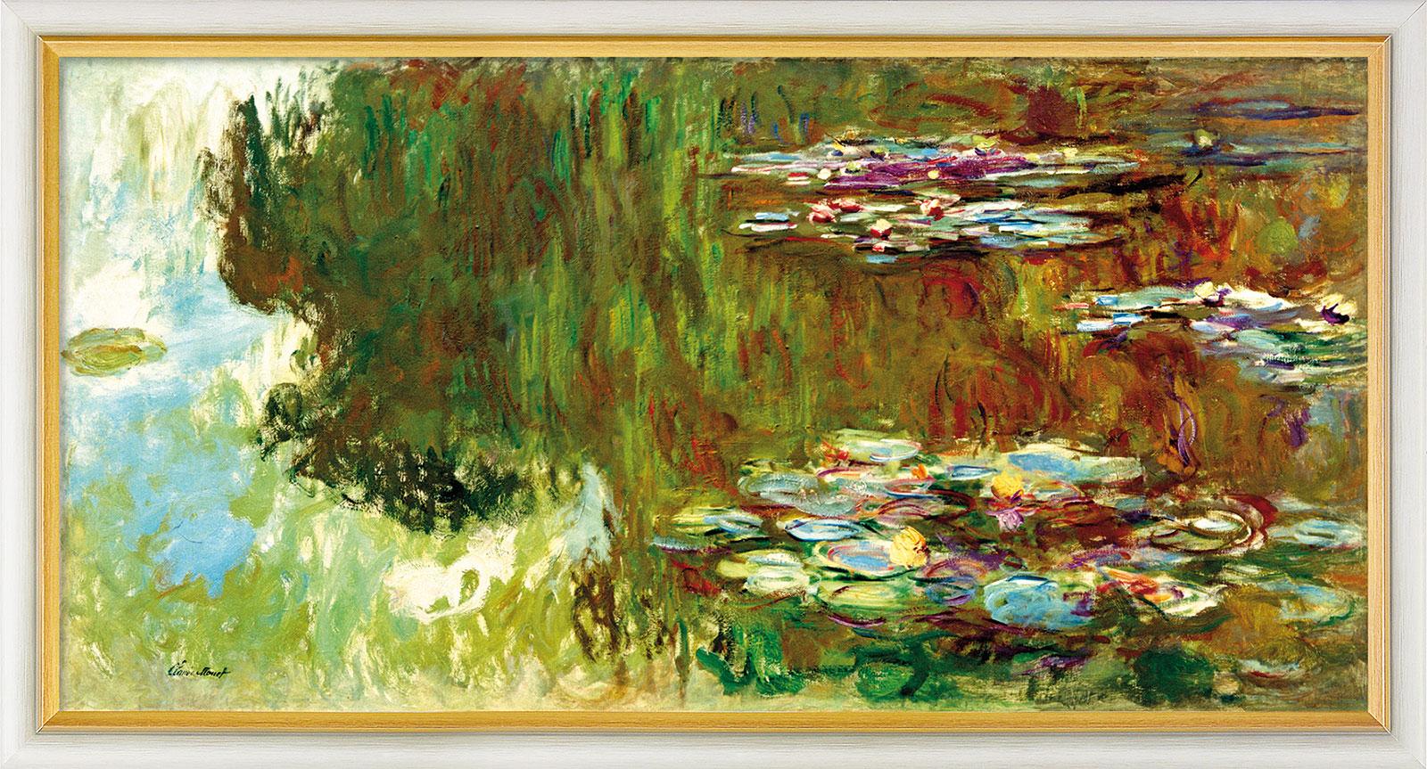 """Bild """"Le bassin aux nymphéas"""" (1917-1919), gerahmt"""