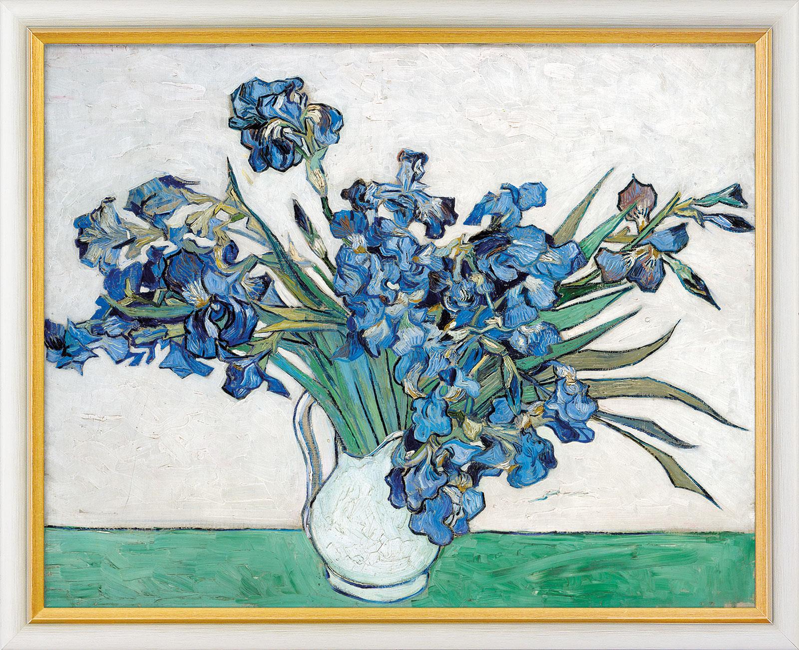 """Bild """"Schwertlilien"""" (1890), gerahmt"""
