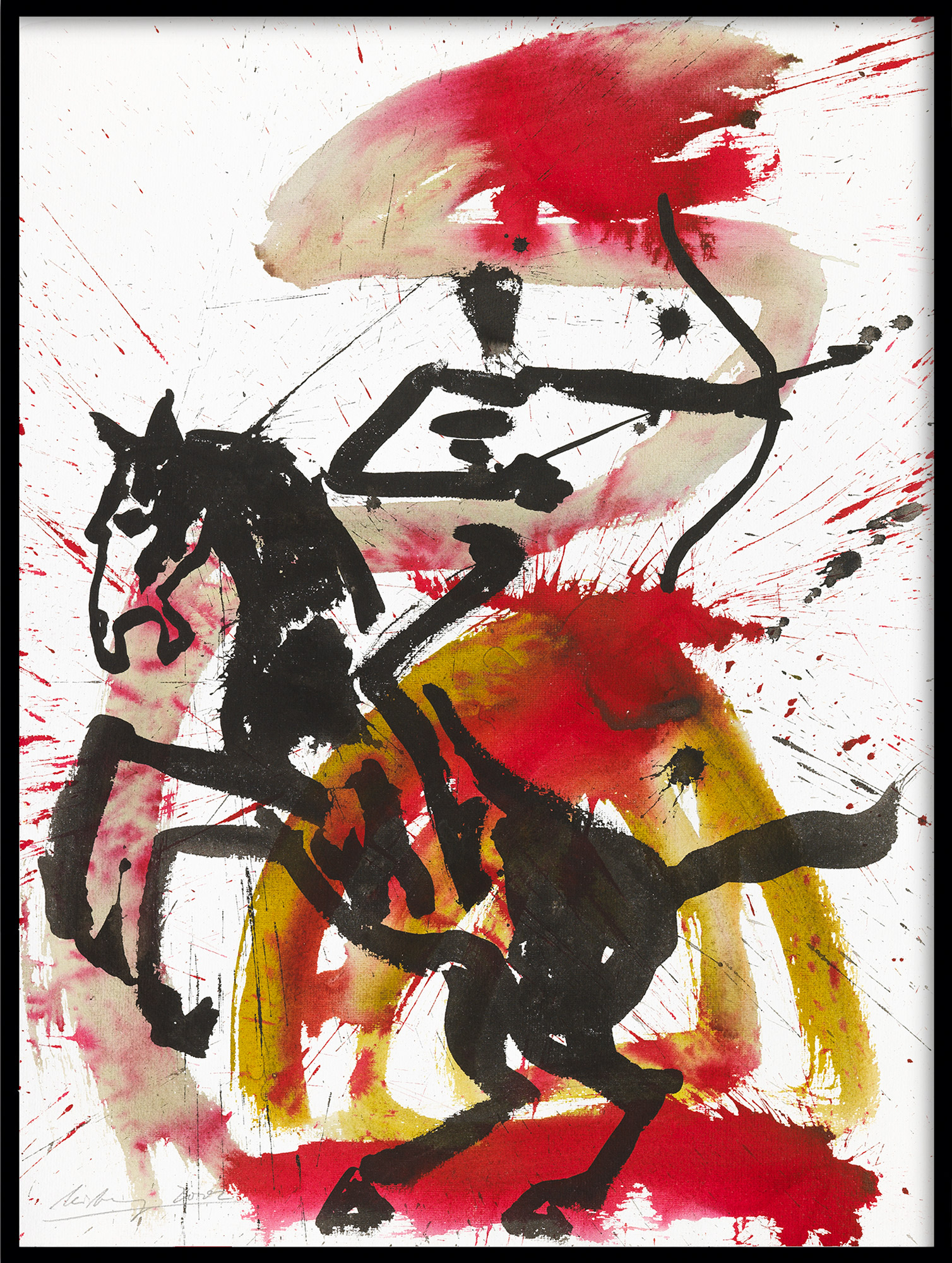 "Bild ""Apokalyptischer Reiter II (Z 02 006)"" (2002) (Unikat)"