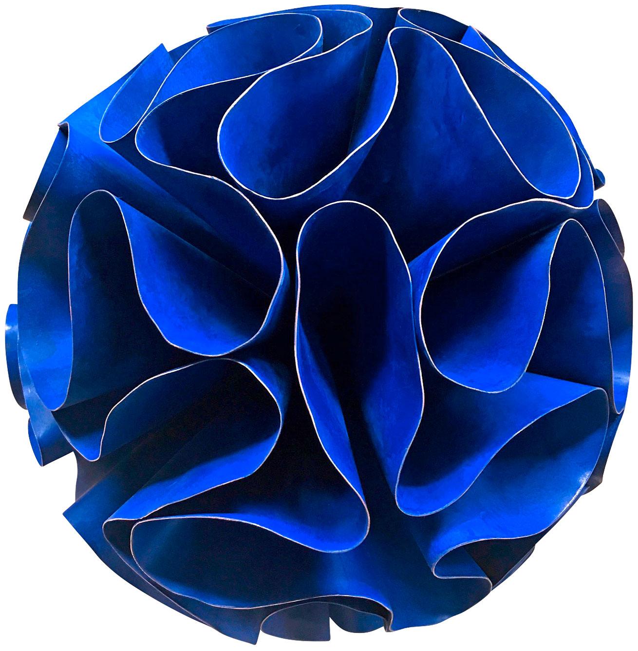 "Skulptur ""Seed - Deep Blue"" (2019) (Original / Unikat), Kupfer pigmentiert"