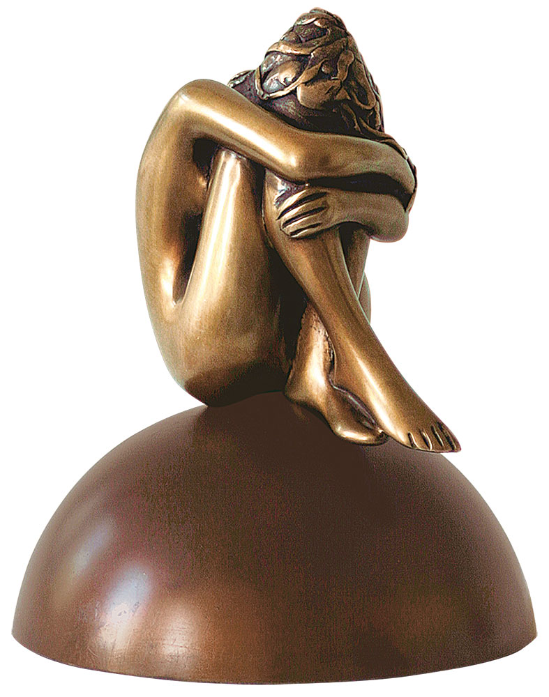 "Skulptur ""La Felicità"", Bronze auf Sockel"