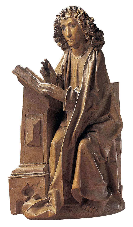 "Skulptur ""Evangelist Johannes"" (Originalgröße), Kunstguss"