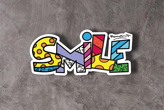 """Art Panel / Wandobjekt """"Smile"""""""