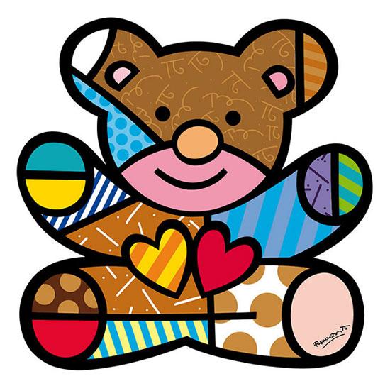 """Art Panel / Wandobjekt """"Bear"""""""